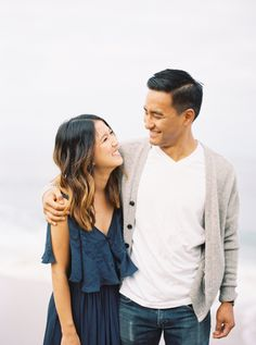 Could these two get any cuter? http://www.stylemepretty.com/california-weddings/joshua-tree/2015/09/14/casual-chic-beach-joshua-tree-engagement-session/ | Photography: Meiwen Wang - http://www.meiwens.com/