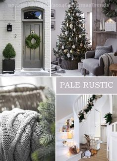 Christmas Decorating Trends for 2014 - Pale Rustic