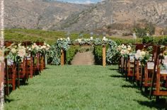 | Orfila Vineyards and Winery Romantic Chic Wedding Ceremony Site by Third Bloom | Photo by Shane and Lauren Photography