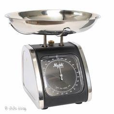 IB Laursen Mynte - Keukenweegschaal - 5 kg - ZiZo Living woonaccessoires, stationary en lifestyle  - IB Laursen RVS keukenweegschaal Mynte met een afneembare schaal en een capaciteit van 5 kg.