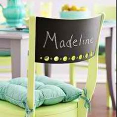 Do this with chalk wall and add regular vinyl for the name! Get both from Uppercase Living! Http://dianek.uppercaseliving.com