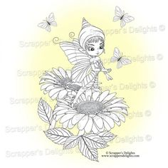 1 Design 3 Images in total  JPG & PNG format  THIS IMAGE IS WITHIN THE  Fairies And Pixies V2 Colouring Book Digital Download http://scrappersdelights.com/store/index.php?main_page=product_info&cPath=6&products_id=968   Simply print and colour in as you would a traditional rubber stamp or leave clear Perfect for Stitching, Painting, Colouring and Tracing etc.. Print them as many times as you want! You Can Sell You Hand made Creations!  ANGEL POLICY ONLY…
