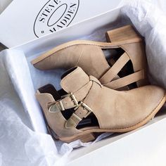Steve Madden booties. These will go with everything.