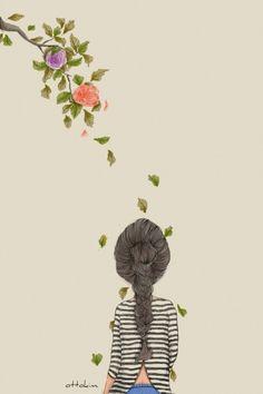 Risultati immagini per ottokim Art Anime, Anime Art Girl, Chibi Manga, Illustration Girl, Cute Drawings, Cute Wallpapers, Cute Art, Illustrations Posters, Watercolor Art