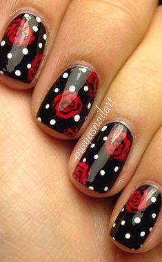 NewYorkDress Blog // Polka Dot Dreams // Click through for more! #nailart