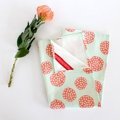 Linen Cotton Tea Towel  Pomegranate by caseydsibley on Etsy