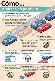#seguridadvial estacionar, aparcar, consejo para hacerlo correctamente