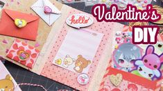 How to Make a Kawaii Valentine's Day Flipbook Kawaii Crafts, Kawaii Diy, Cute Crafts, Crafts To Sell, Easy Crafts, Arts And Crafts, Paper Crafts, Stationery Craft, Cute Dolls
