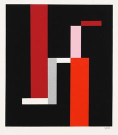 Walter Dexel, Das grosse H. Komposition mit grossem schwarzem L, 1972. Serigraphy. Source http://decdesignecasa.blogspot.it