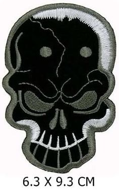 Skull Biker Motorcycle Appliques Hat Cap Polo Backpack Clothing Jacket Shirt DIY Embroidered Iron On / Sew On Patch  http://www.bikeraa.com