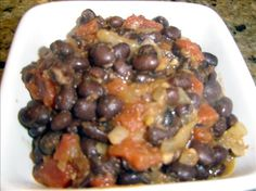 Simmered Black Beans from Food.com: These are great black beans - very healthy and delicious. The seasonings are just right.