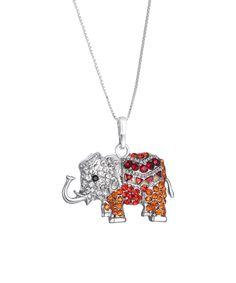 Look at this Red Swarovski® Crystal Elephant Pendant Necklace on #zulily today!