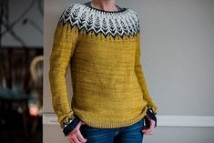 Vintersol by Jennifer Steingass - Pulli Sitricken Fair Isle Knitting, Hand Knitting, Knitting Patterns, Crochet Patterns, Icelandic Sweaters, Sweater Weather, Knitting Projects, Ravelry, Knitwear