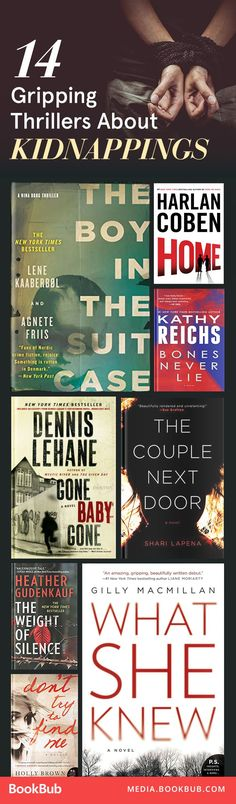 14 top thriller books about kidnappings.