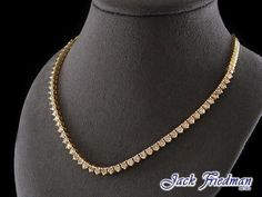 18ct Yellow Gold Tennis Chocker Necklace with a total of  53 diamonds weighing 9.87ct,. Stunning Piece of jewellery from Jack Friedman.  Inquire about this design online or in stores today. amelia@jackfriedman.co.za..........  #tennisnecklace #chocker #necklace #diamonds #jackfriedman #gold #yellowgold Chocker Necklace, Beaded Necklace, Chokers, Necklaces, Tennis Necklace, Fine Jewelry, Jewellery, Amelia, Jewelry Collection