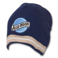 Blue Moon Embroidered Logo Navy Knit Beanie Hat 98d0974ce976