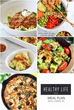 As you write out your grocery list for the upcoming week check out these healthy family friendly recipes from this weeks menu plan for five weeknight meals, and one dessert idea. Each featured recipe includes link to complete recipe. - A Healthy Life For Me
