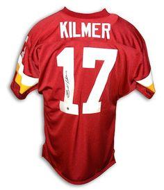 Autographed Billy Kilmer Washington Redskins Red Throwback Jersey Nfl  Redskins 47982b515