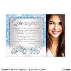 Cinderella Princess Quinceanera Card