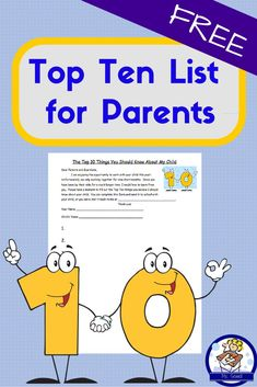 This free page provides invaluable information from parents about their child. Hand it out at Back to School night, and parents can either fill it in there or send it back to school at a later time. Learn a wealth of information about your students based on what their parents deem the 10 most important facts about their own child.