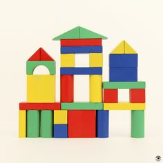 Our shape of the month can be seen hiding throughout this castle of blocks. How many squares can your child find?