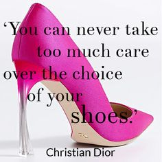 #STYLERULES: Choosing your shoes is the most important outfit decision. There were never truer words from Christian Dior!