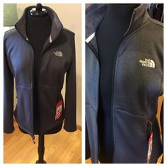 The North Face outdoor heather jacket Figure flattering North Face heather jacket.  Beautiful for windy or cool days or nights.  Great for jogging , working out, sports.  You know, it's North Face. North Face Jackets & Coats