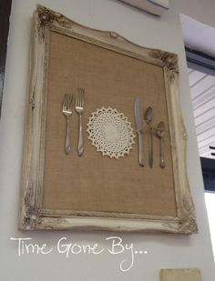 Time Gone By <3 If you have a set of dishes and silverware that was special to you, what a cute idea to preserve your treasure. (Maybe a set that was used during childhood that reminds you of family time, your first set of dishes after you were married, or a set that was used by someone very special to you.) Sgh