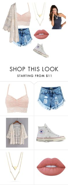 """""""Untitled #94"""" by xheartit101 ❤ liked on Polyvore featuring Charlotte Russe, Converse and Lime Crime"""