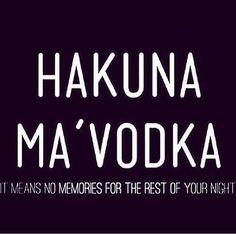 Hakuna Ma Vodka - Bestie.com