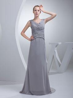 Fully Pleated Bodice Chiffon Sheath Prom Dress with Sequined Waist Brands:AmarantaFreeship:YESModel Name:MabelleTailoring Time (Standard):15-20 DaysTailoring Time (Rush Order):10-15 DaysSilhouette:Sheath/ColumnNeckline:V-neckSleeve Style:SleevelessWaist:NaturalBack…