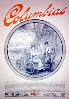 columbia bike add Bicycle Design, Vintage Bicycles, Ads, Advertising, Bike, Classic, Columbia, Posters, Bicycle