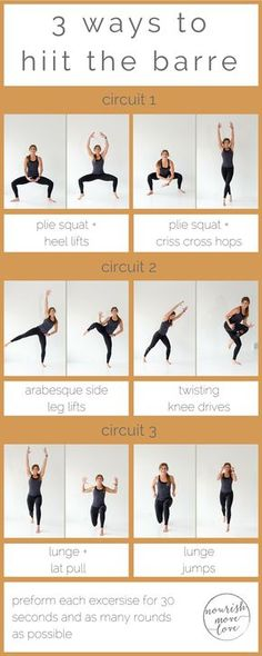 Try this barre and HIIT combo workout combining basic barre moves with high intensity interval training to strengthen and tone while increasing your metabolism and endurance. | Posted by: AdvancedWeightLossTips.com