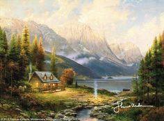 Beginning Of A Perfect Day by Thomas Kinkade. I would sure love to begin my days like this :)