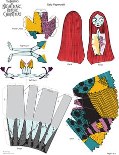 Sally paper doll printable at Spoonful