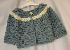 VERY EASY crochet cardigan. sweater. jumper tutorial - baby and child sizes