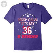 Mens Keep Calm It's My 36th Birthday - Birthday Shirt Gifts 2XL Purple - Birthday shirts (*Amazon Partner-Link)