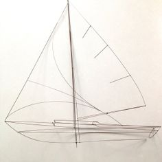 Vintage Wire Sail Boat on a Lucite Base by midcentmama on Etsy, $195.00
