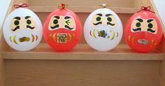 赤と白の風船に折り紙でパーツを貼って カワイイだるま さんを作りました! 「和」なガーランドにしたり リボンで天井から吊るしたり 手軽にお正月飾りを楽しめます♪ Diy Japanese Decorations, New Years Decorations, Diy For Kids, Crafts For Kids, Diy And Crafts, Paper Crafts, Concrete Crafts, Man Birthday, How To Make Ornaments