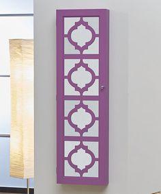 Purple Cutout Hanging Jewelry Armoire #zulily #zulilyfinds