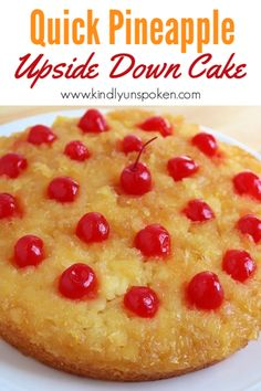 You'll love my easy, delicious, and quick pineapple upside down cake with crushed pineapple. It's made with a yellow cake mix and double the pineapple! Crushed Pineapple Cake, Pineapple Desserts, Pineapple Upside Down Cake, Pineapple Recipes, Easy Pineapple Cake, Best Nutrition Food, Proper Nutrition, Health And Nutrition, Nutrition Products