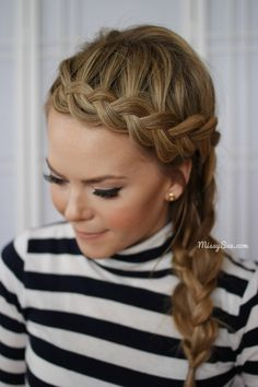Chic Dutch Braided Headband + Side Braid #hair