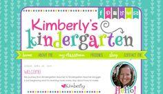 Kimberly's Kindergarten | blog design