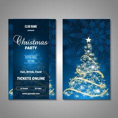 Diseño de cartel de fiesta de navidad Vector Gratis