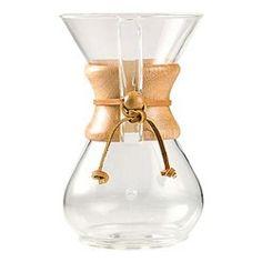Jarra para Filtrar Café Chemex com Alça de Madeira 6 Xícaras