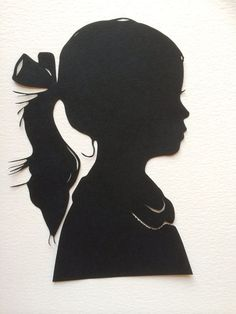 One Custom Hand Cut for Child Portrait - Unique Birthday Day Gift