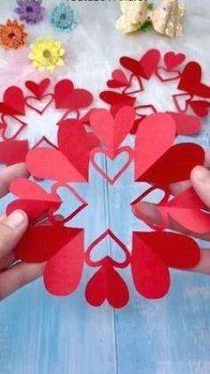 Valentines Day Crafts For Preschoolers, Diy Valentines Day Gifts For Him, Valentine's Day Crafts For Kids, Valentine Day Crafts, Preschool Crafts, Holiday Crafts, Valentine Ideas, Easter Crafts, Cool Paper Crafts