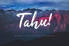Tahu – Free Script Font – Pixelify