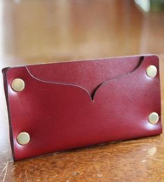 Leather Riveted Cardholder | A minimalist design, all made from one piece of leather and de... | Wallets & Money Clips
