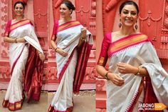 Ever charming and beautiful Sushmita Sen! <3 We're always in awe of her aura. What do you think about this saree?